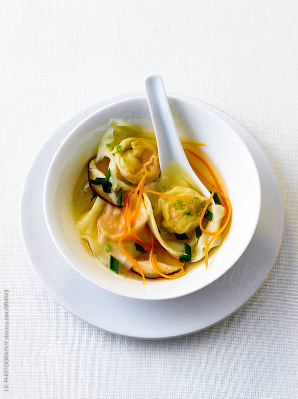 Bowl of chinese wonton soup by J.R. PHOTOGRAPHY for Stocksy United