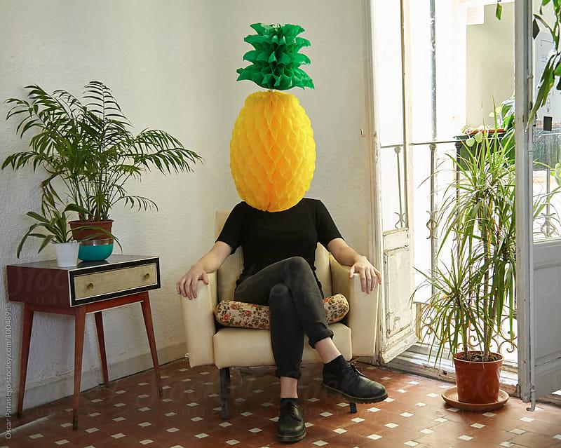 Fruit Head by Oscar Parasiego for Stocksy United