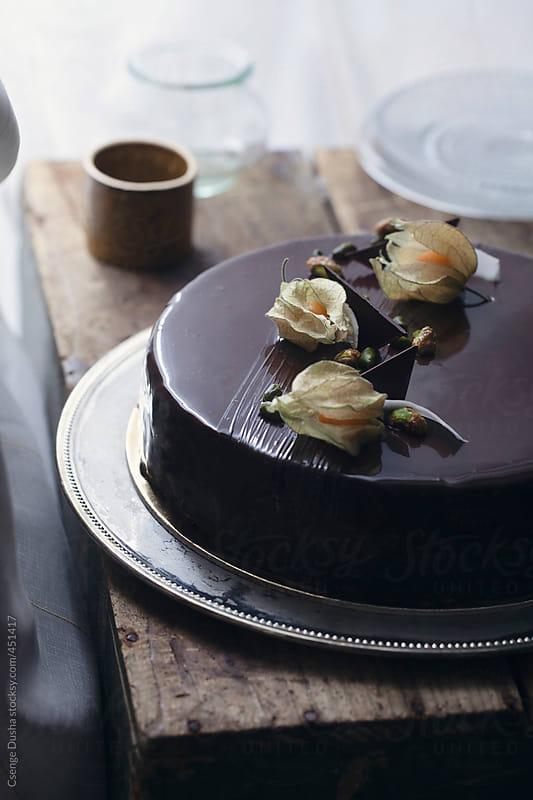 Tropical cake by Csenge Dusha for Stocksy United