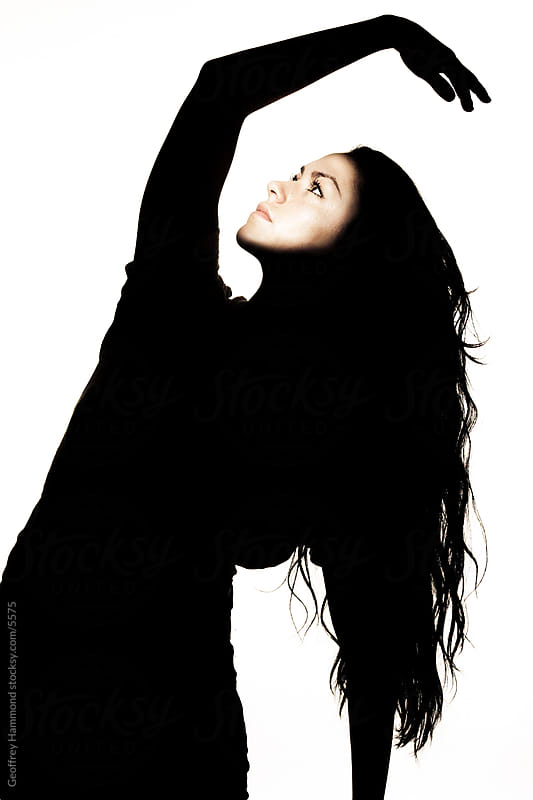 Silhouette Portrait of Female Dancer by Geoffrey Hammond for Stocksy United