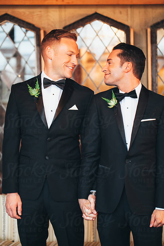 Gay Wedding Couple by Anjali Pinto for Stocksy United