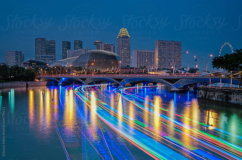 River Light trails by Edward Adios for Stocksy United