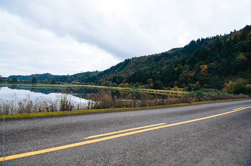pacific northwest road and landscape by Margaret Vincent for Stocksy United