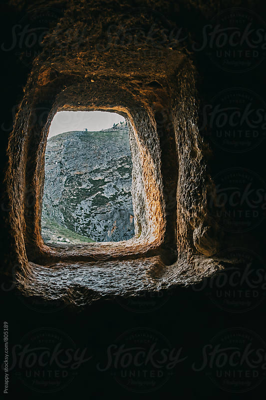 Window of Moorish caves in Bocairent, Spain by Preappy for Stocksy United