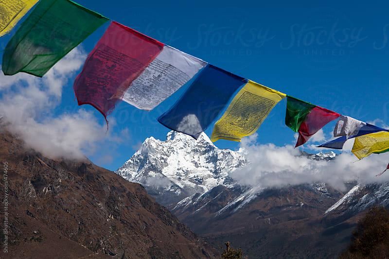 Mt. Ama Dablam in the everest region on a beautiful sunny day. by Shikhar Bhattarai for Stocksy United