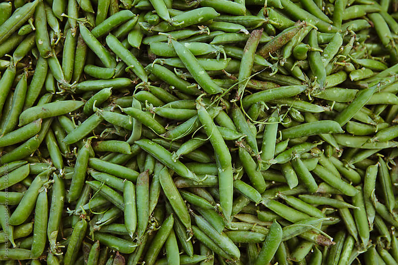 Green peas by Paperclip Images for Stocksy United
