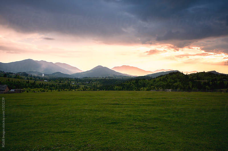 Bright Sunset after a storm  by RG&B Images for Stocksy United