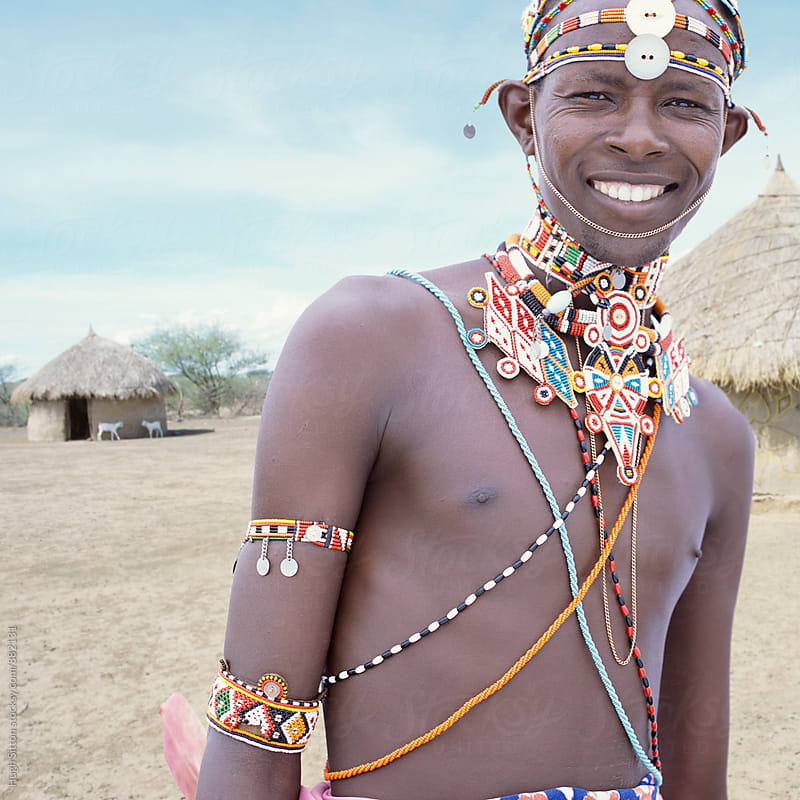 Portrait of Samburu tribesman. Kenya by Hugh Sitton for Stocksy United