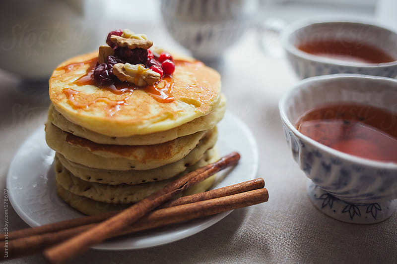 Pancakes and Tea by Lumina for Stocksy United