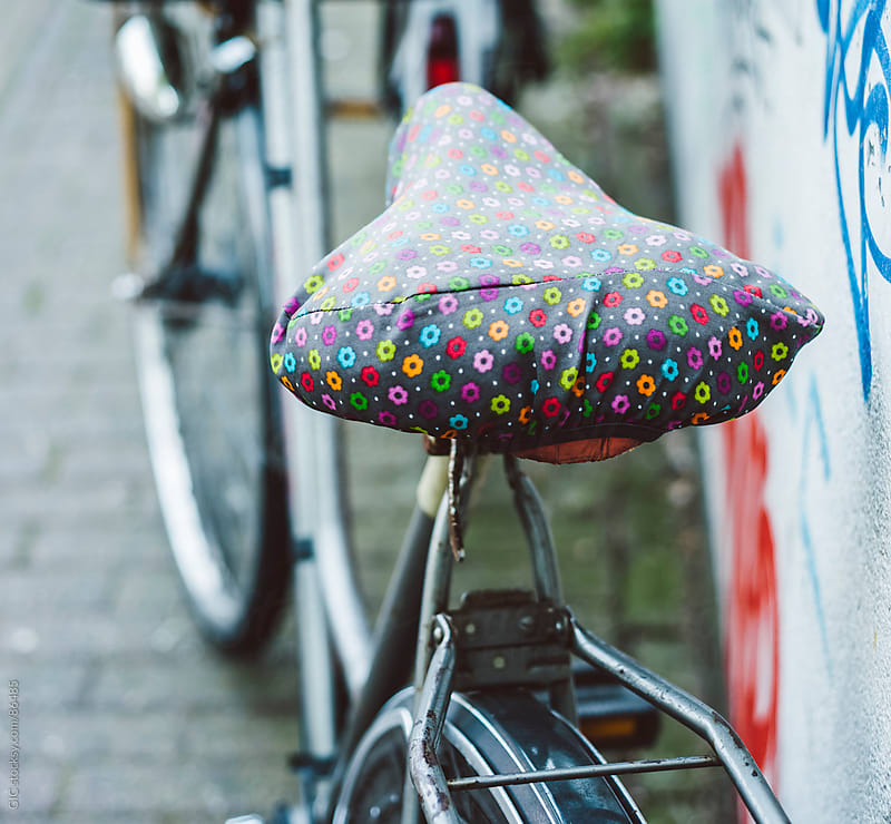 Saddle covered with a floral blanket by GIC for Stocksy United