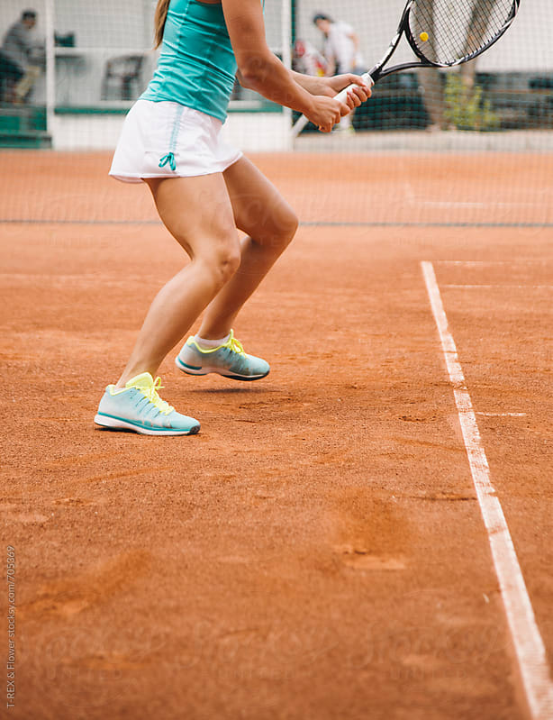 Girl playing tennis by Danil Nevsky for Stocksy United