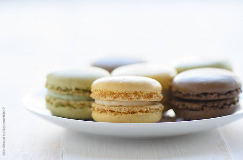 Macaroons on a Plate by Julie Rideout for Stocksy United