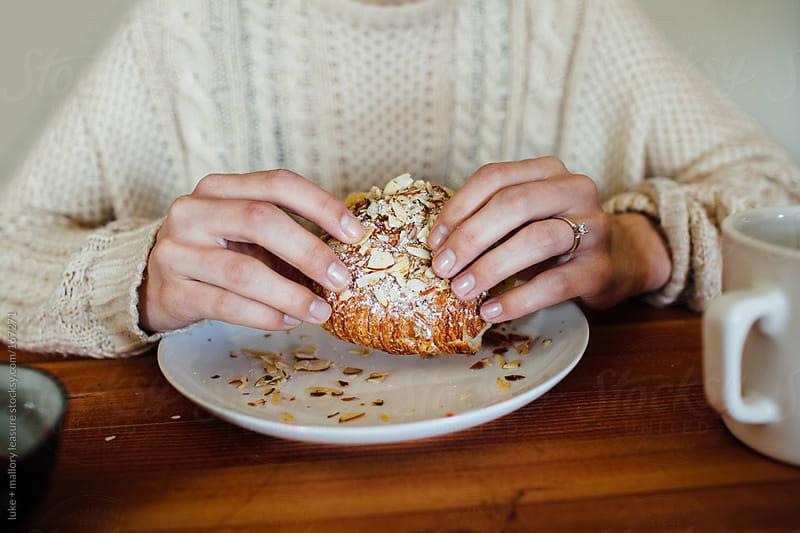 Girl having breakfast by luke + mallory leasure for Stocksy United