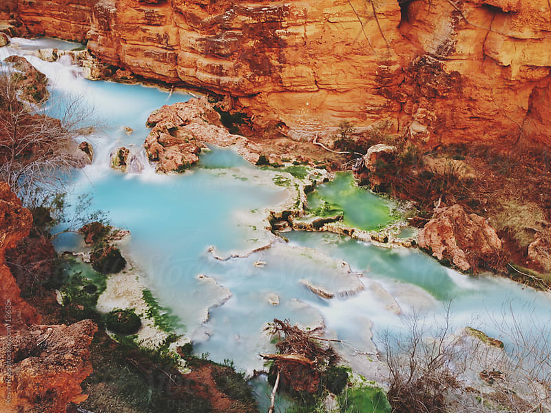 Colorful Canyon Creek by Kevin Russ for Stocksy United