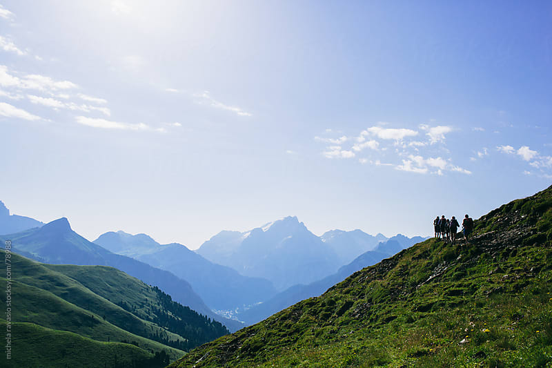 Hikers on the mountain. by michela ravasio for Stocksy United
