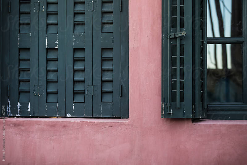 Window with shutters in Athens by Helen Sotiriadis for Stocksy United