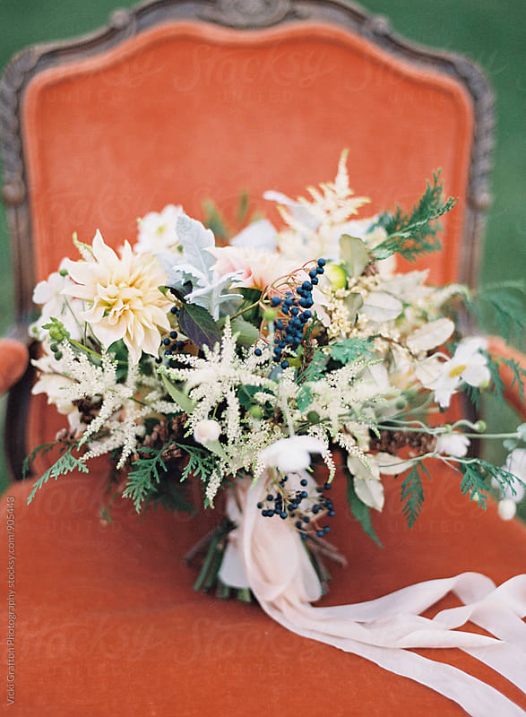Fall Bridal Bouquet  by Vicki Grafton Photography for Stocksy United