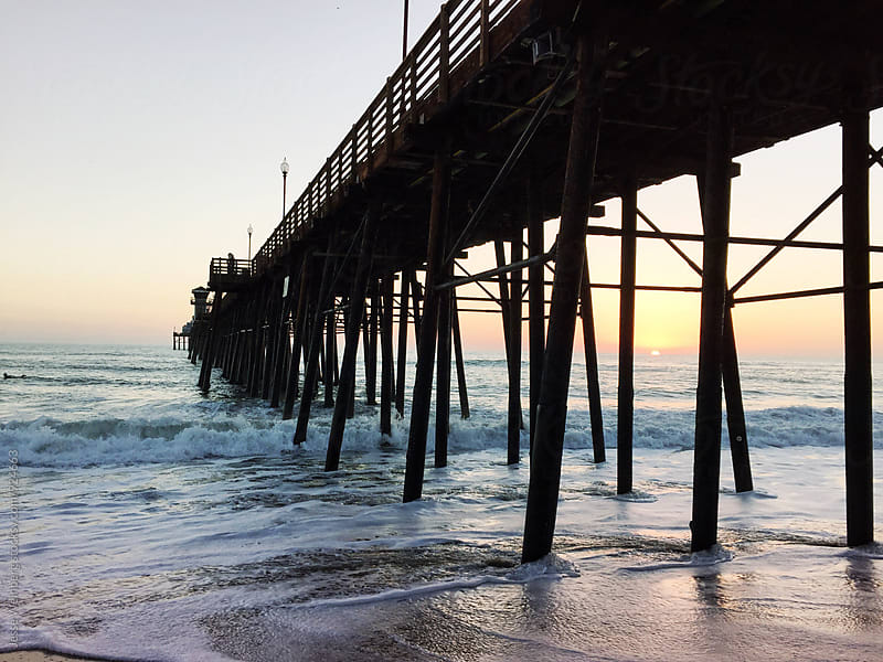 Coastal Pier Sunset by Jesse Weinberg for Stocksy United