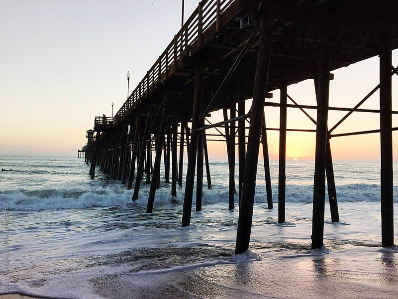 Coastal Pier Sunset by Jesse Weinberg for Stocksy United
