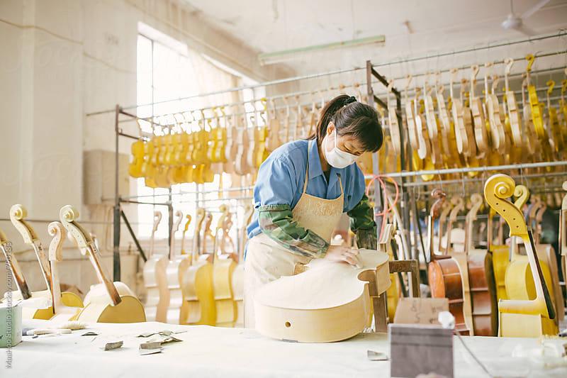 Violin maker by MaaHoo Studio for Stocksy United