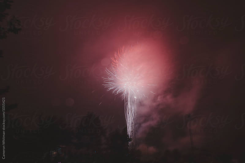 City Fireworks Display  by Cameron Whitman for Stocksy United