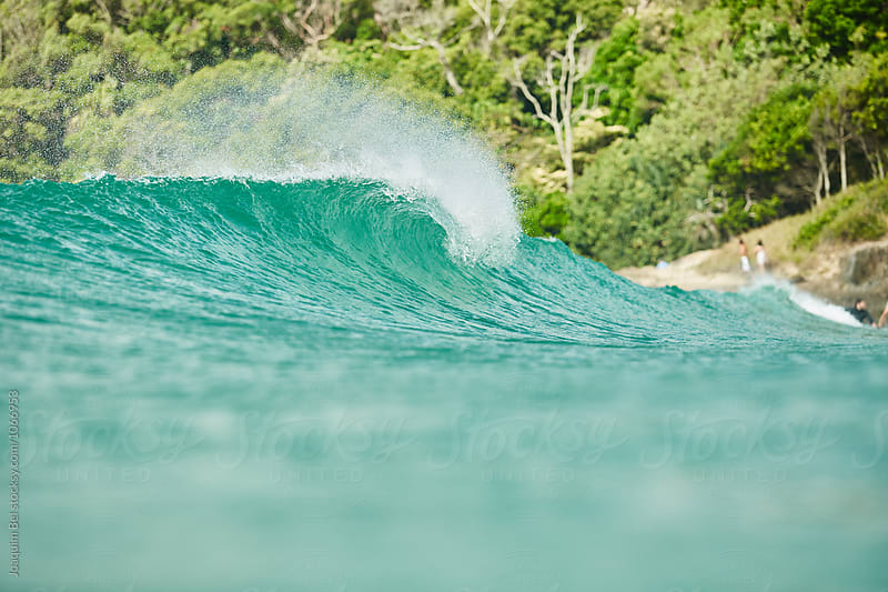 Green wave rolling by Joaquim Bel for Stocksy United