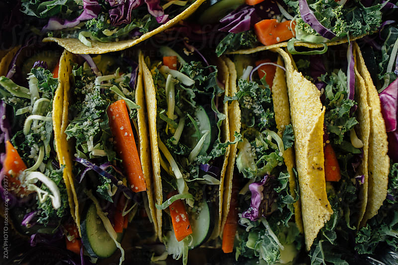 Raw and Gluten free tacos by ZOA PHOTO for Stocksy United