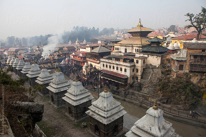 Pashupatinath Temple, Nepal. by Shikhar Bhattarai for Stocksy United