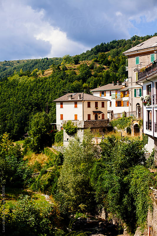 Italian ancient typical houses in the sun in a mountain village by Laura Stolfi for Stocksy United