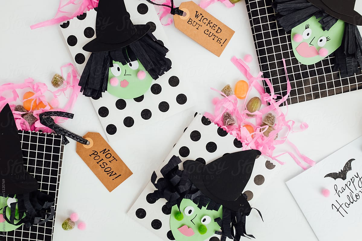 diy idea for kids halloween party. trick or treat bags. | stocksy united
