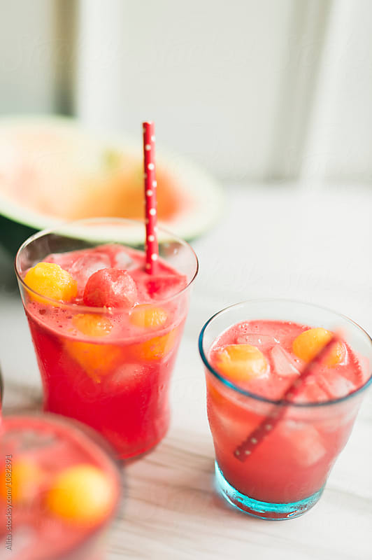 Watermelon soju by Alita Ong for Stocksy United
