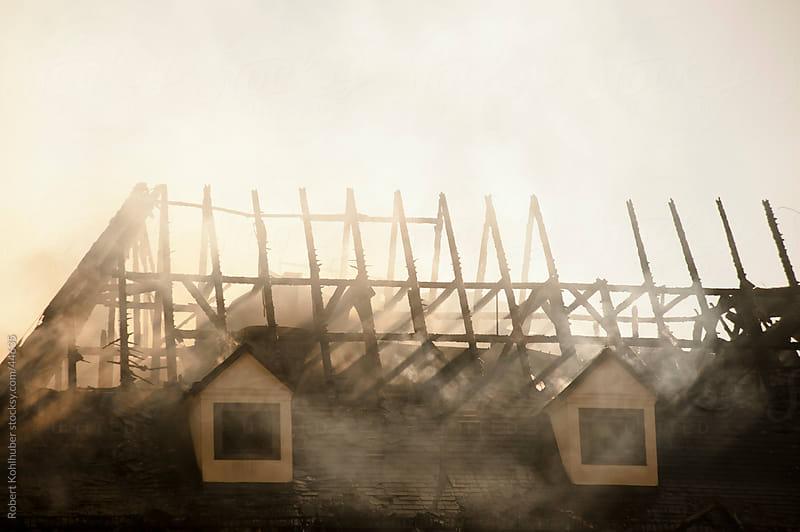 Burnt house by Robert Kohlhuber for Stocksy United