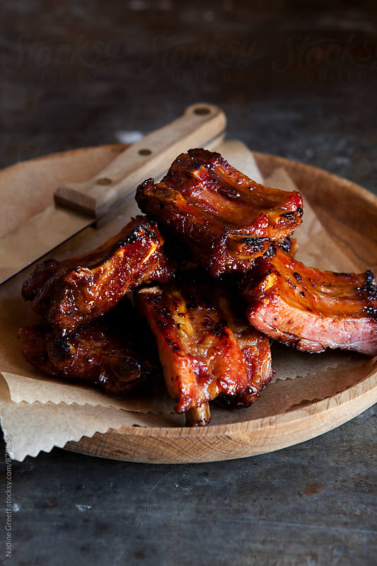 Pork ribs by Nadine Greeff for Stocksy United