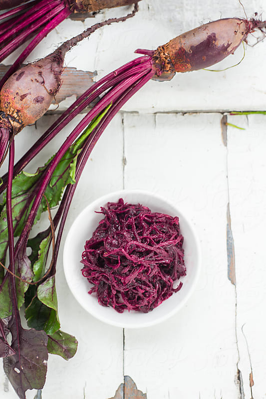 beetroot relish or pickle by Gillian Vann for Stocksy United