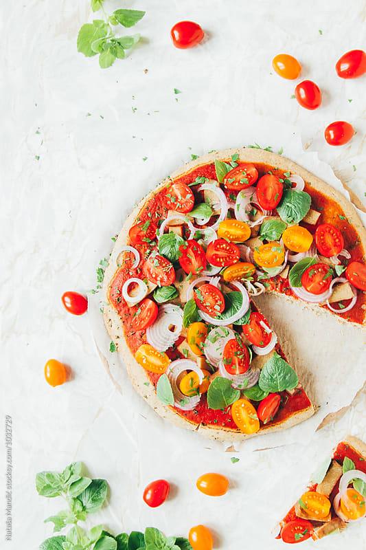 Veggie pizza by Nataša Mandić for Stocksy United