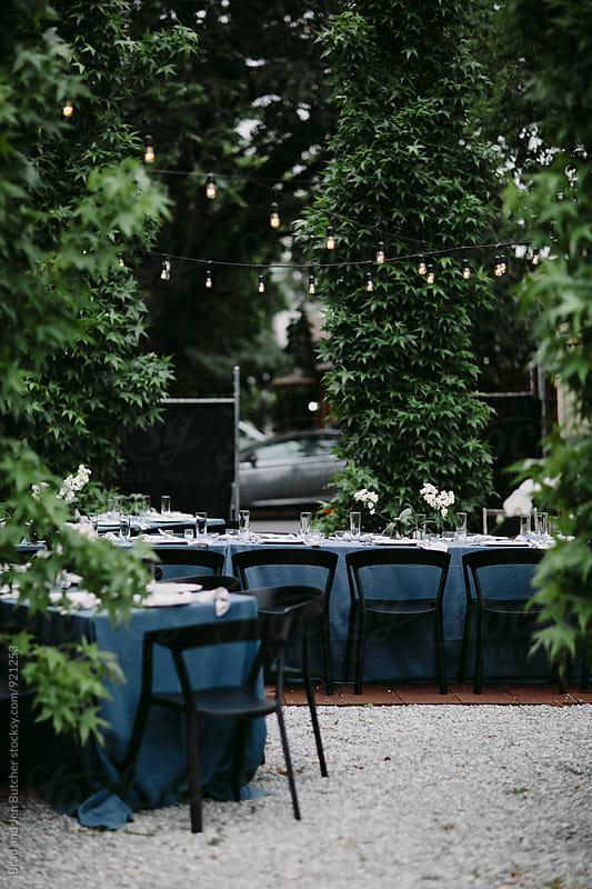 Backyard Dinner by Brad and Jen Butcher for Stocksy United