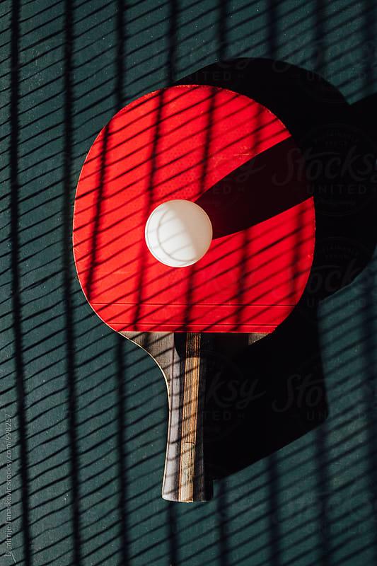 Ping pong racket by Dimitrije Tanaskovic for Stocksy United