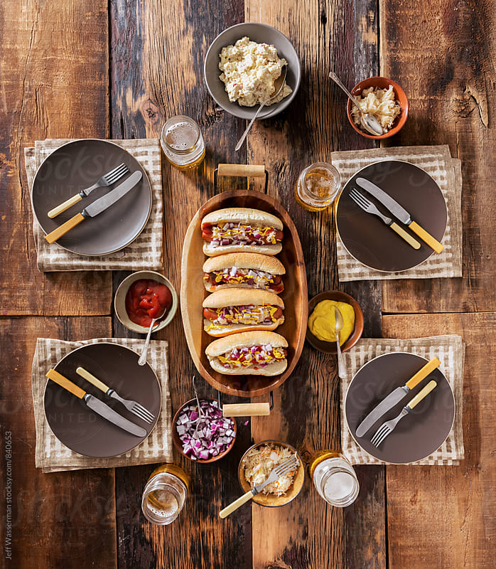 Gourmet Hotdog Dinner Party by Jeff Wasserman for Stocksy United