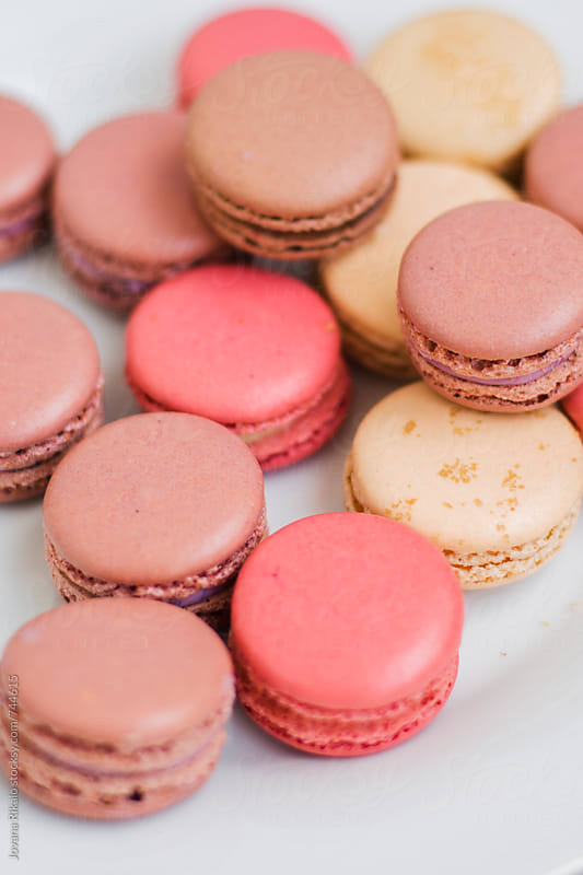 Colorful french macaroons by Jovana Rikalo for Stocksy United
