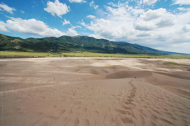 Footprints in Colorado's Great Sand Dunes National Park by Kaat Zoetekouw for Stocksy United