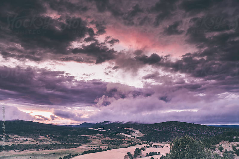 landscape with beautiful sunset by Javier Pardina for Stocksy United
