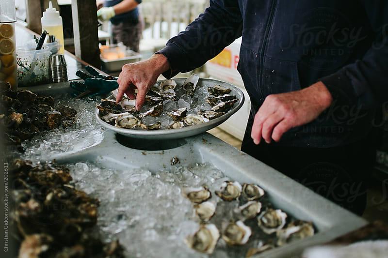 Raw Oyster Bar by Christian Gideon for Stocksy United