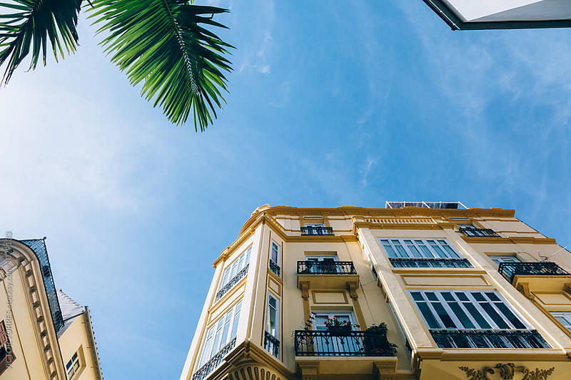 Traditional Buildings in Malaga, Spain