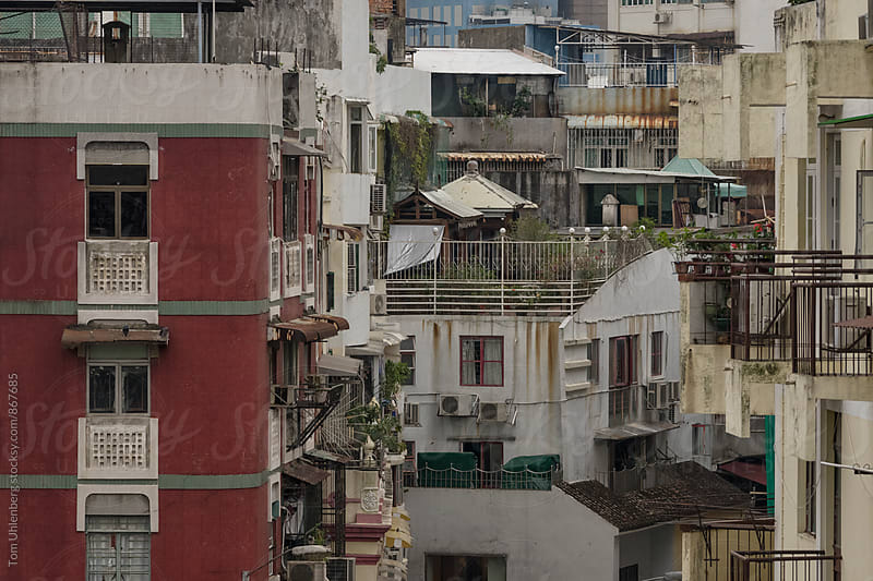 Dense Cityscape of Macau, SAR China by Tom Uhlenberg for Stocksy United