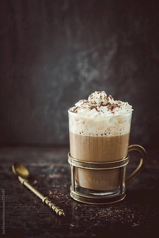 Food: Coffee with cream liquor, cream and choclate rasps by Ina Peters for Stocksy United