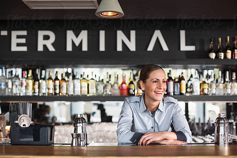 Waitress in the Bar by Lumina for Stocksy United