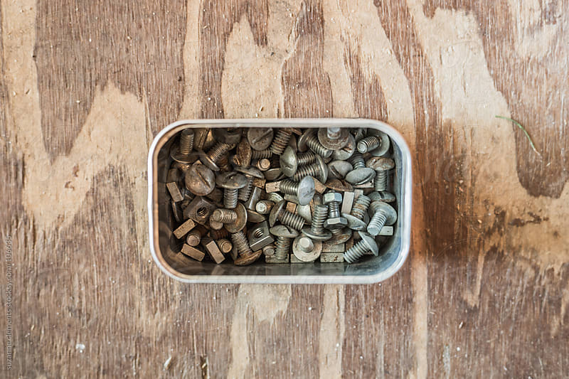 Collection of old Nuts and Bolts by suzanne clements for Stocksy United