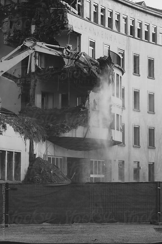 The Demolition of an old building (hospital) by Robert Kohlhuber for Stocksy United