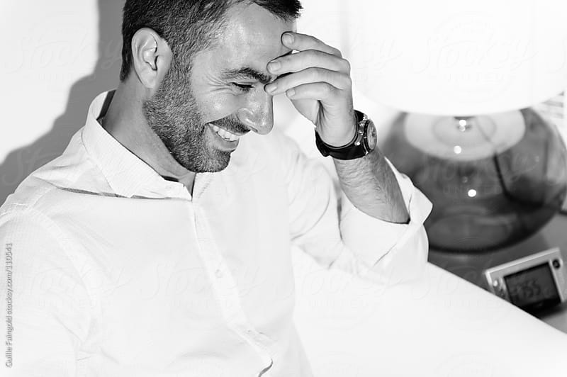 Black and white portrait of a handsome leader  by Guille Faingold for Stocksy United