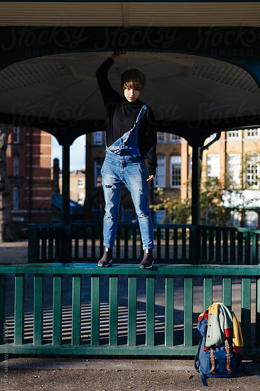 Young Student in the Park in London by HEX . for Stocksy United